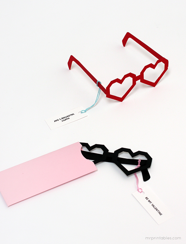 Free Printable HeartShaped Valentines Glasses Starling Agency – Heart Shaped Valentine Cards
