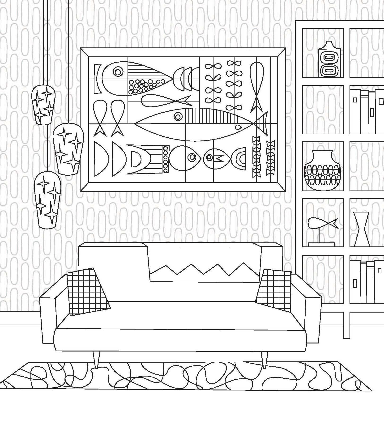 Mid-Century Modern Coloring Book - Starling Agency