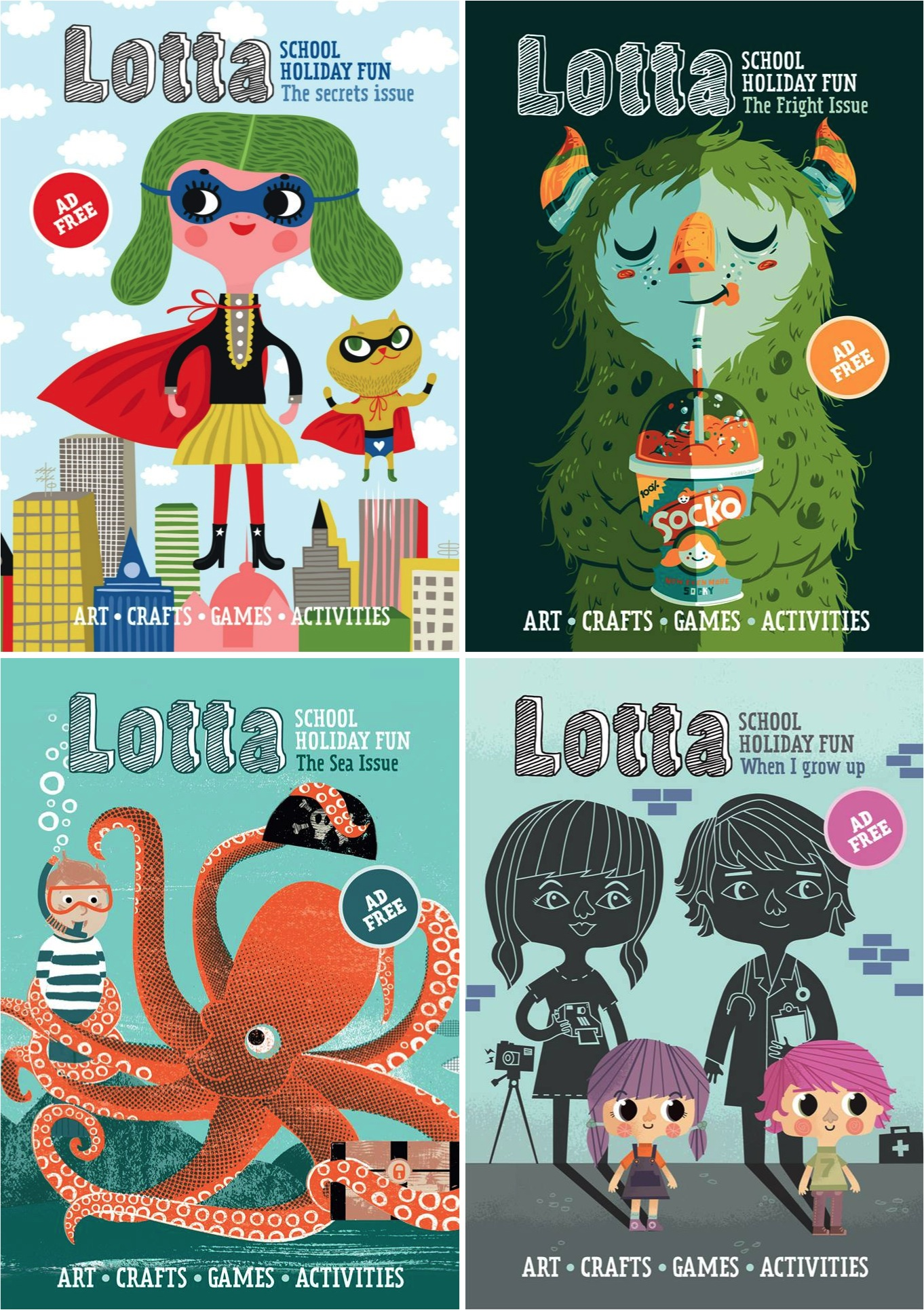 School Book Cover Advertising : Must read lotta magazine for kids starling nanny agency
