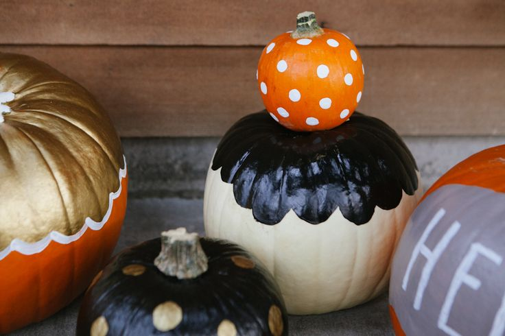 Make Fall-o-ween last with Kid-Friendly Painted Pumpkins!