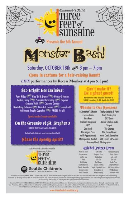 This Weekend: Kid-Friendly Monster Bash Benefitting Seattle Children's Hospital
