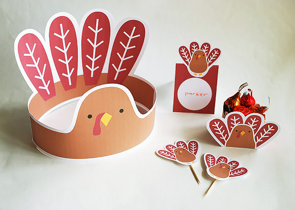Easy Thanksgiving Printables for the Kids Table