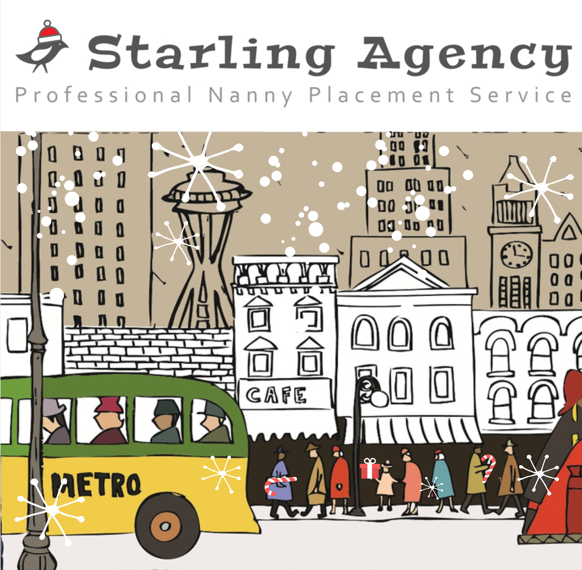 Happy Holidays Seattle Love Starling Agency Nanny Placement