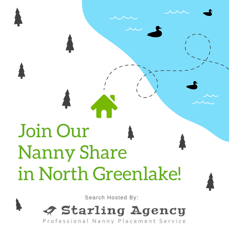 Join our Nanny Share in Greenlake!