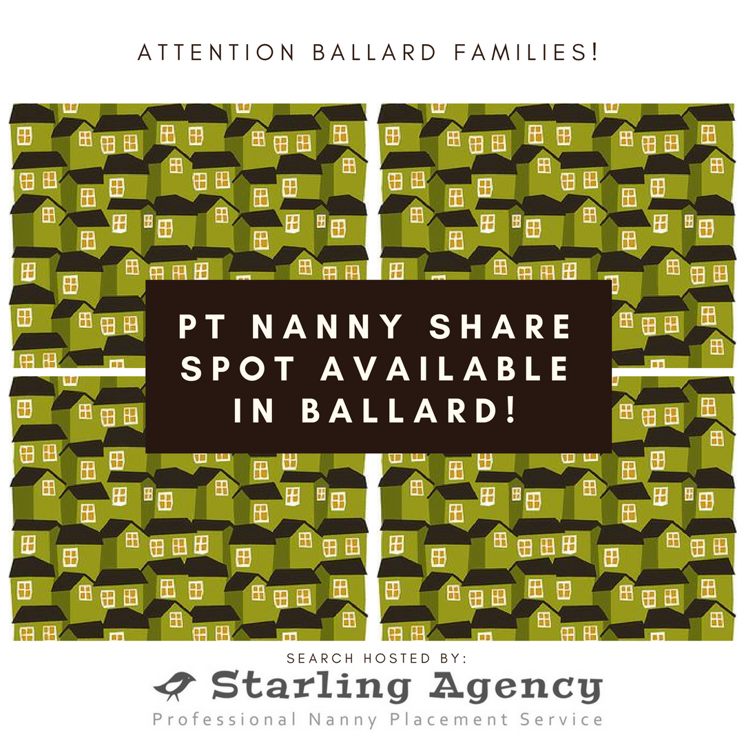 Join Our PT Nanny Share in Ballard!