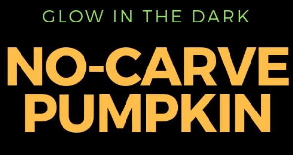 Glow in the Dark No-Carve Pumpkin!